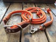 ELBBAND Tauwerk Set | Schnalle Choco/Orange/Ledernatur