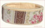 Cosy Collar Cornish Rose Brown Stripe | Champagna