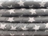 COSYPLAID | Cotton Star Grey    | 100 x 75 cm